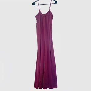 Vintage Ralph Montenero Satin Night Gown Purple S
